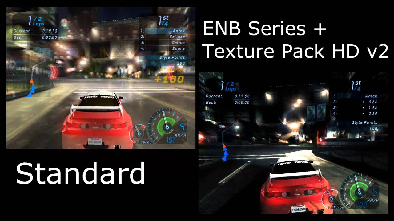 Nfs Carbon Cars Wallpaper Need For Speed Underground Enb Series Hd Textur Pack V2