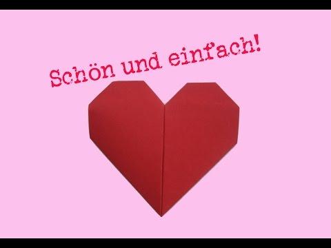 Herz falten - Origami - einfach