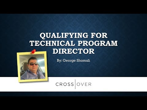 Qualifying for Technical Program Director