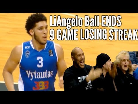 LaMelo Ball HELD SCORELESS but LiAngelo Ball SNAPS 9 GAME LOSING STREAK to SIAULIAI
