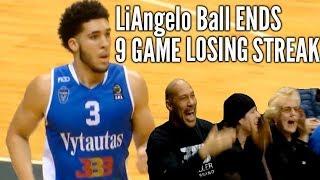 LaMelo Ball HELD SCORELESS but LiAngelo Ball SNAPS 9 GAME LOSING STREAK to SIAULIAI