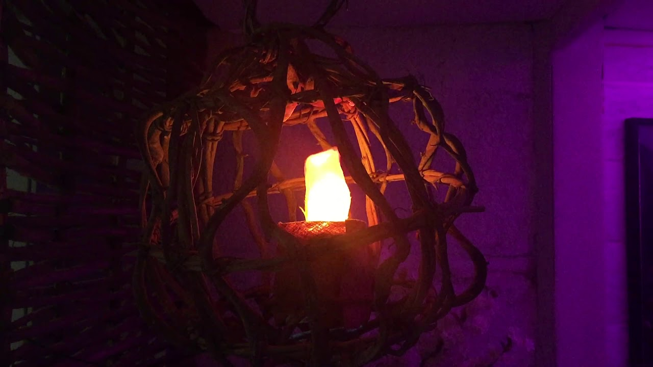 Vine Ball Silk Flame Lamp