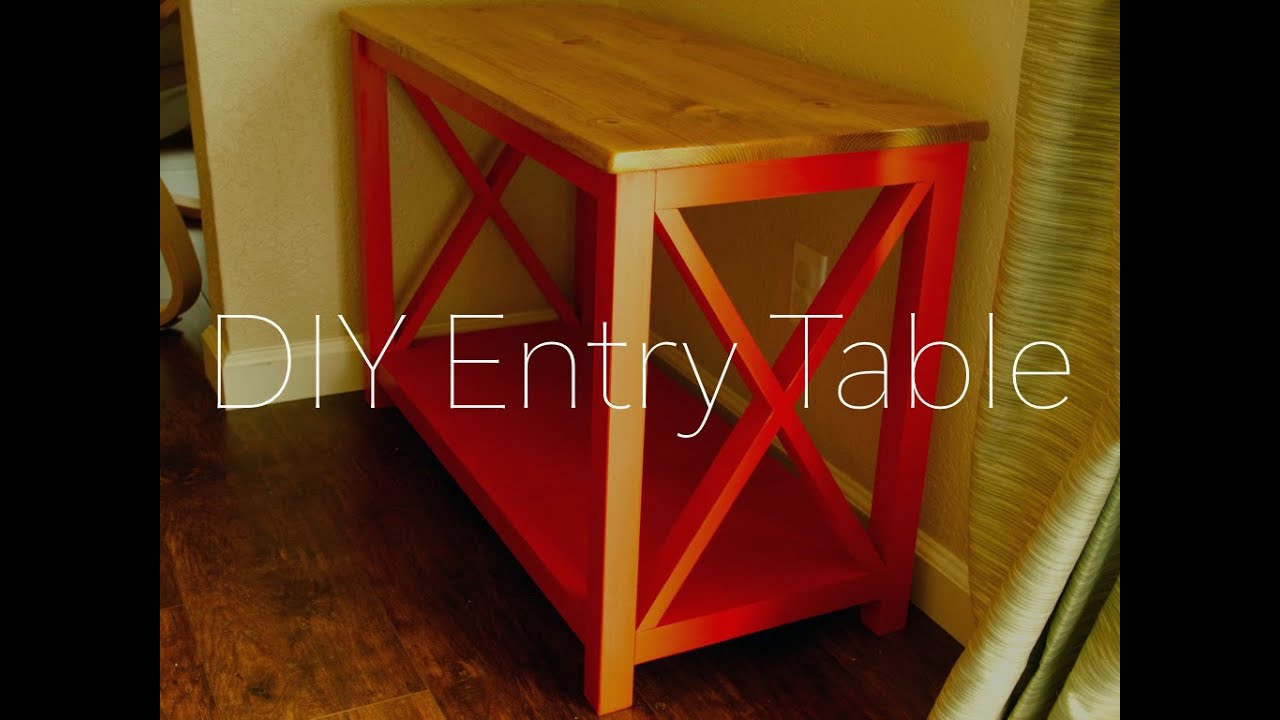 Diy Entry Table Patrick Hosey
