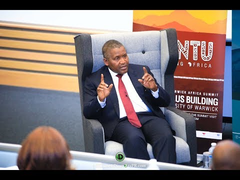 Q & A With Aliko Dangote At The Warwick Africa Summit 2018