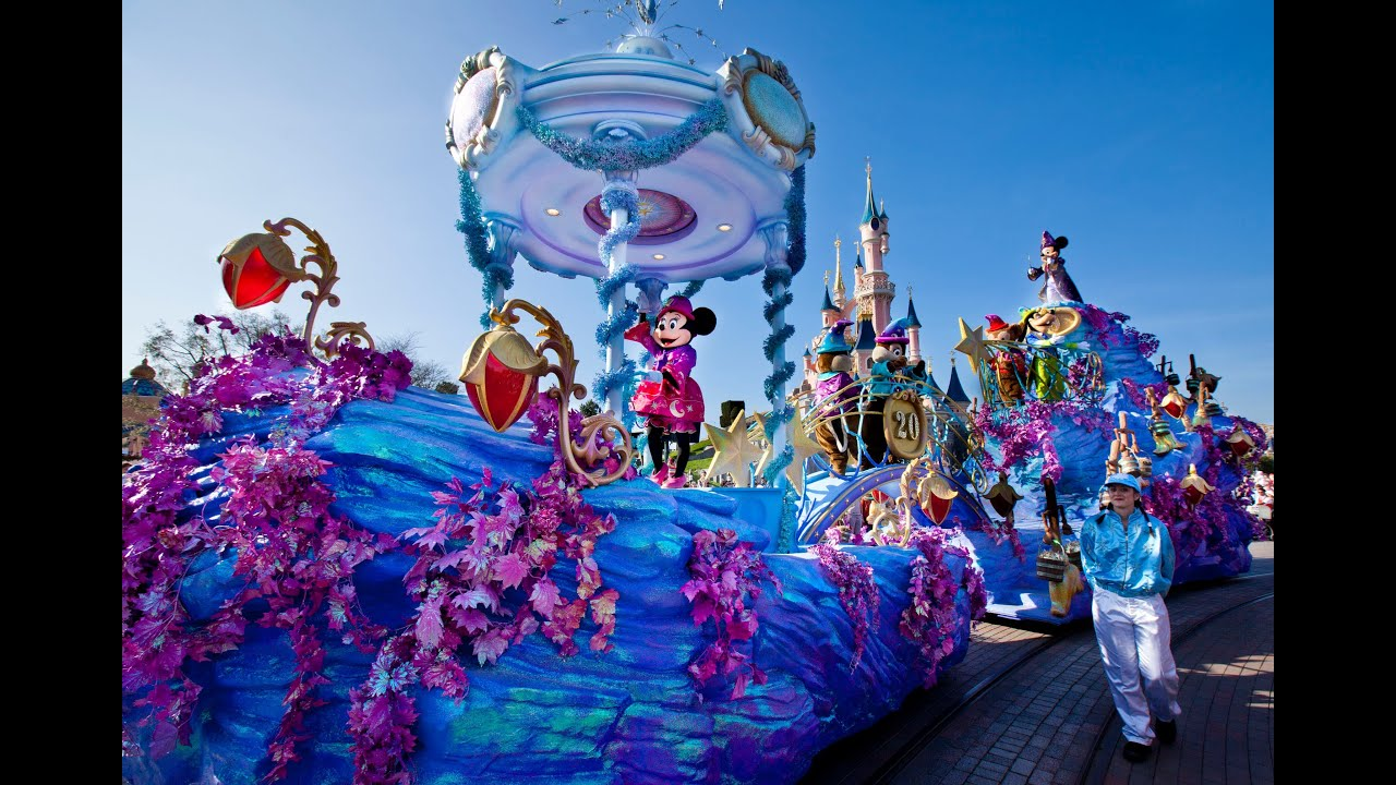 disney magic on parade disneyland paris 20 years youtube. Black Bedroom Furniture Sets. Home Design Ideas