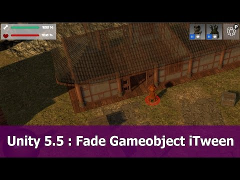 Unity 5: Fade Gameobjects with transparent shader and iTween