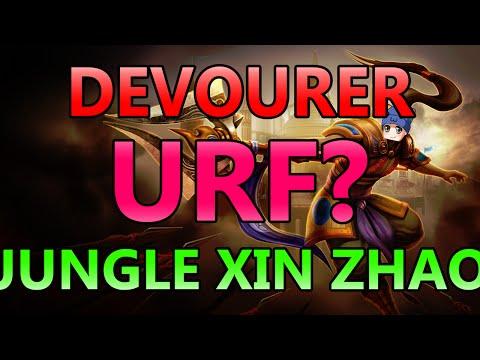 ULTRA RAPID FIRE JUNGLING? DEVOURER XIN ZHAO (URF) - Full Gameplay Commentary