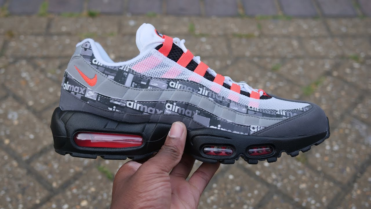 68df34bb9fbd Nike x Atmos Air Max 95  We Love Nike  - Air Max Box Pack - Quick Look   On  Feet (Solar Red)