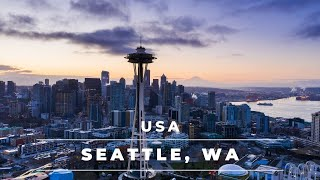 Seattle Washington in 4k | Aerial views of Seattle...