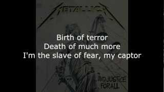 Metallica - The Frayed Ends Of Sanity Lyrics (HD)