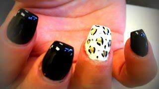 How To Ballerina Nails | Coffin Nails | Black & White |