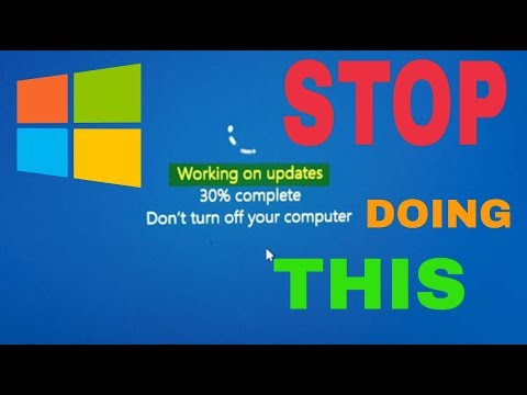 How To Stop Doing WINDOWS UPDATE