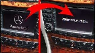 Hidden Function Mercedes W211, W219 / How to replace the COMAND Logo at the start with AMG