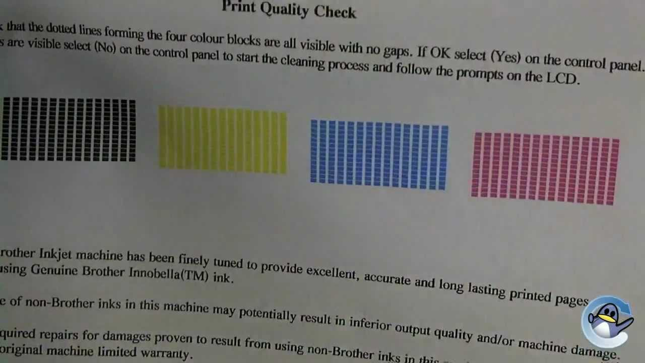 How to do a Test Print from a Brother MFC-J430W Printer - YouTube