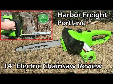 """Harbor Freight 14"""" Electric Chainsaw Quick Review (Recall PN 67255 & 61592)"""