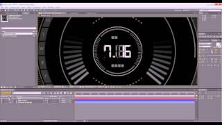 Уроки Adobe After Effects. Цифровая панель. Часть 1.