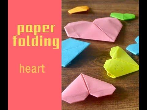 DIY折纸paper folding——heart爱心