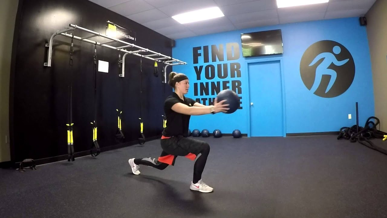 Medicine Ball Rotational Lunge - YouTube