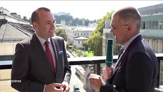 phoenix tagesgespräch mit Manfred Weber (CSU, MdEP) am 20.09.18