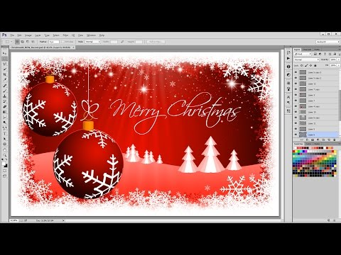 How To Create A Christmas Background - Photoshop Tutorial - Timelaps