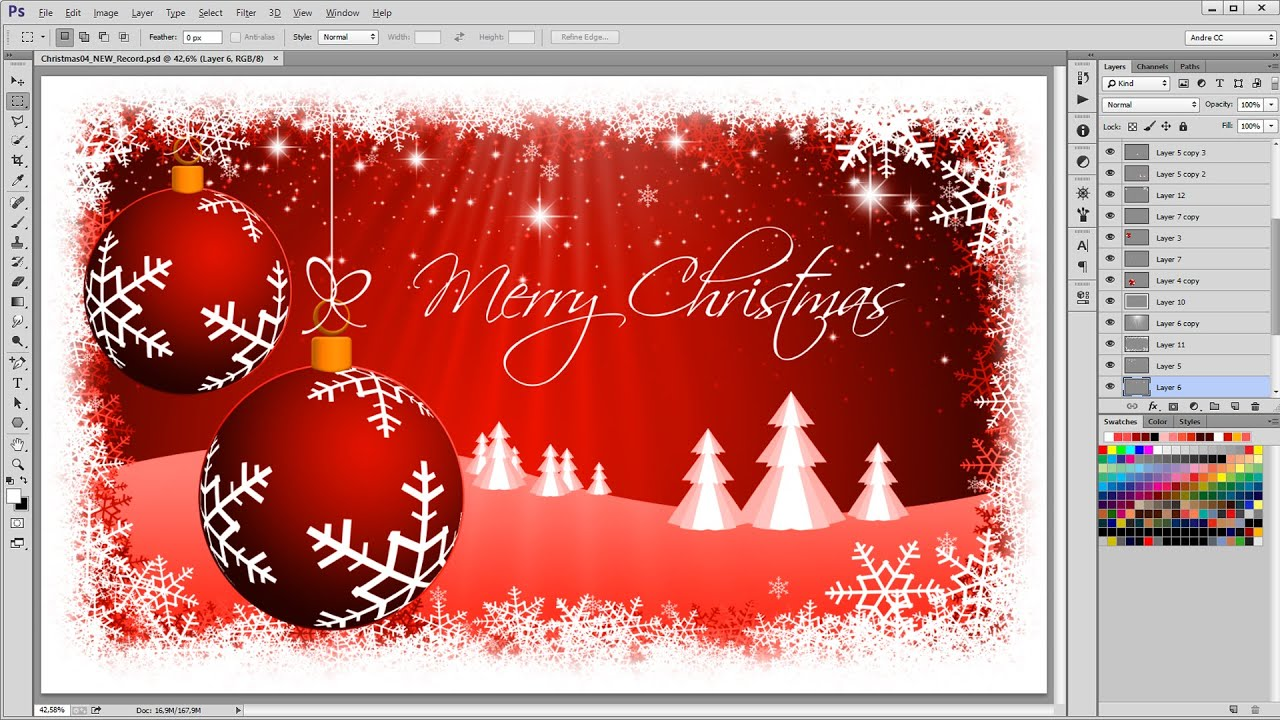 3d Xmas Tree Live Wallpaper How To Create A Christmas Background Photoshop Tutorial