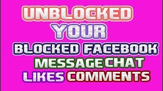 unblocked your facebook likes comment and message in easley new tricks 2018