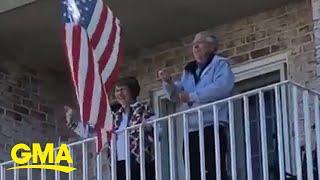 Seniors sing 'God Bless America' to keep their spirits up during the coronavirus pandemic l GMA