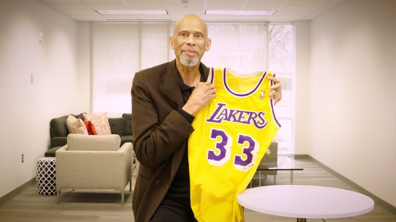 AUCTION - 1987-88 Kareem Abdul-Jabbar Game Used, Signed LA Lakers Home Jersey & Shorts