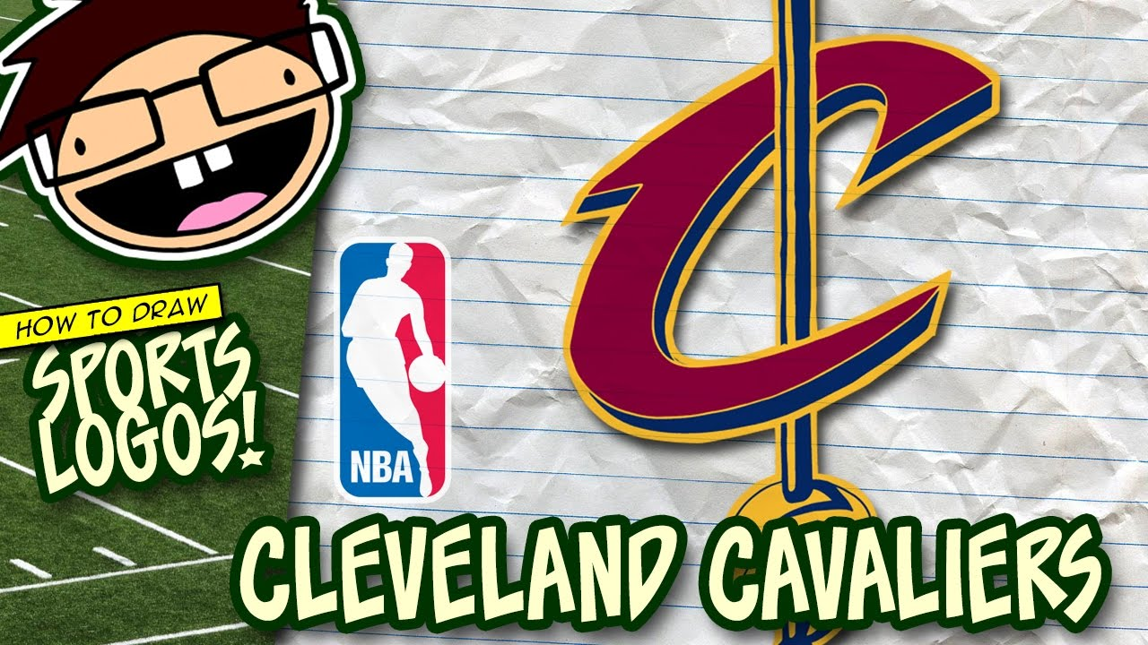 How To Draw Cleveland Cavaliers Logo Nba Narrated Easy Step By
