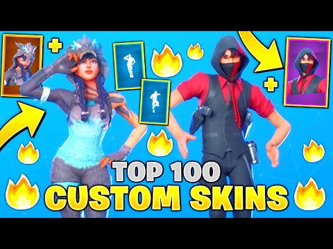 Top 100 Fortnite Custom Skins (Dakotaz, Agent Ikonik)