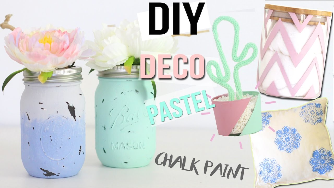 diy deco 4 deco pastel chambre bureau chalk paint room decor francais youtube. Black Bedroom Furniture Sets. Home Design Ideas