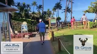 Walk through Ka'anapali beach on Maui