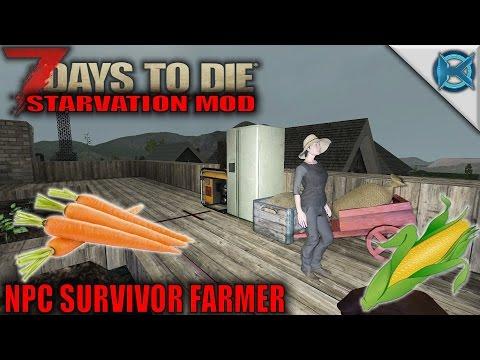 7 Days to Die Mod | NPC Survivor Farmer | SP Let's Play Starvation Mod Gameplay | S01E20