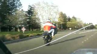 Triumph Daytona 675 - A Couple of Wheelies
