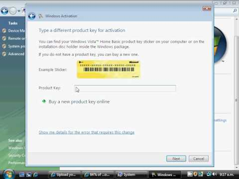 window vista product key for activation free