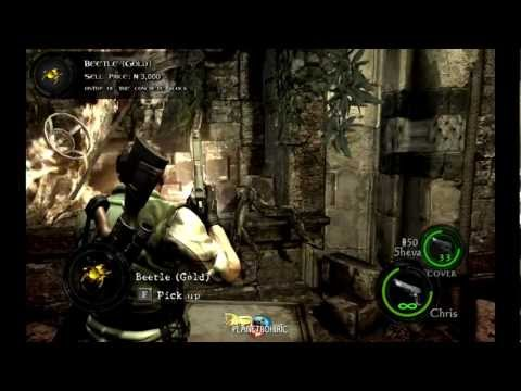 Chapter 4-2, Worship Area BSAA Emblems, Treasures & Weapons. [Resident Evil 5]