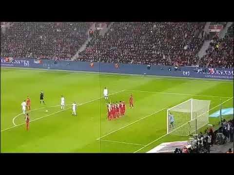 Gol James Rodriguez vs Bayer Leverkusen 1-3