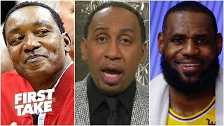 Stephen A. reacts to Isiah Thomas' 'blasphemous' comments about LeBron moving past MJ | First Take
