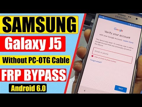 Samsung J5 Bypass Google Account || Without Pc || 2019