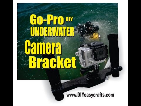 Go Pro DIY Underwater Camera Bracket with quick disconnect for Scuba or snorkeling