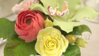 Хотите заказать букет цветов в подарок жене? Цветы ручной работы для интерьера гостиной «Колорит»(Подписаться на бесплатные мастер-классы и новые композиции, купить букеты и материалы для творчества -..., 2015-03-28T08:23:20.000Z)