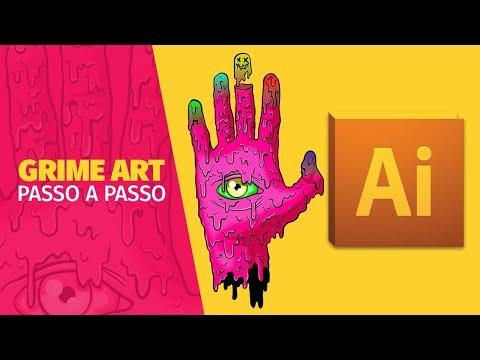 Tutorial Grime Art - PASSO A PASSO no Adobe Illustrator thumbnail