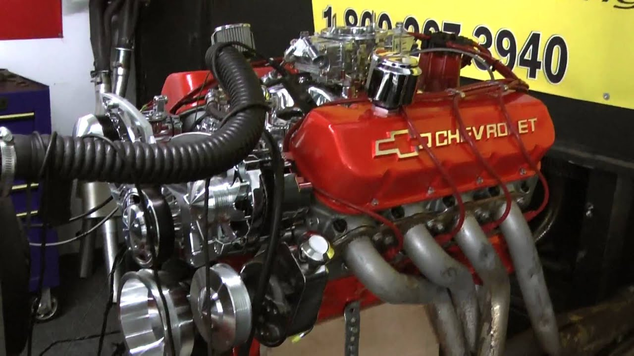 502 Chevy Crate Engine Live Engine Run