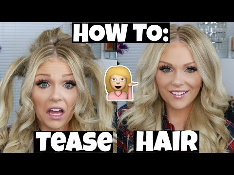 How To Tease Hair For Tons Of Volume