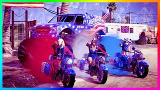 GTA ONLINE INDEPENDENCE DAY DLC ULTIMATE SPENDING SPREE - VEHICLES, FIREWORKS, WEAPONS & MORE!