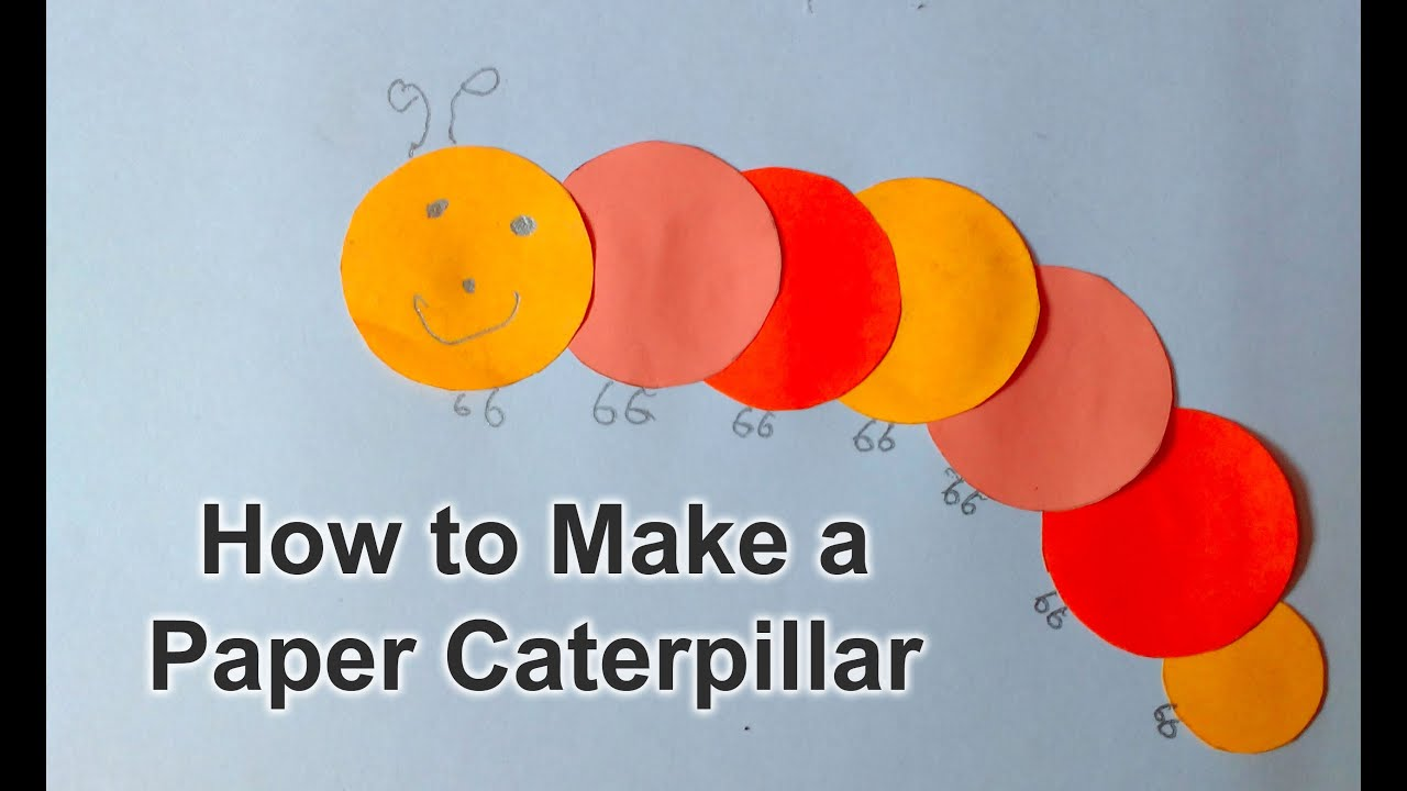 How to Make Easy Paper Origami Caterpillar - YouTube - photo#20