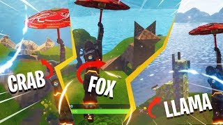 SECRET LOCATIONS CHALLENGE: Llama, Fox, and Crab - Fortnite: Battle Royale