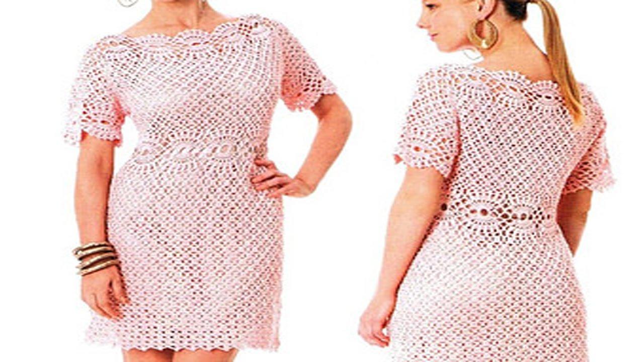 Vestidos de mujer tejidos a crochet o ganchillo los for Disenos de ganchillo