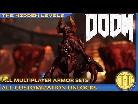 DOOM - All Multiplayer Armor Sets - All Customization Unlocks