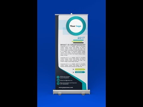 How to design roll up banner -Photoshop tutorial